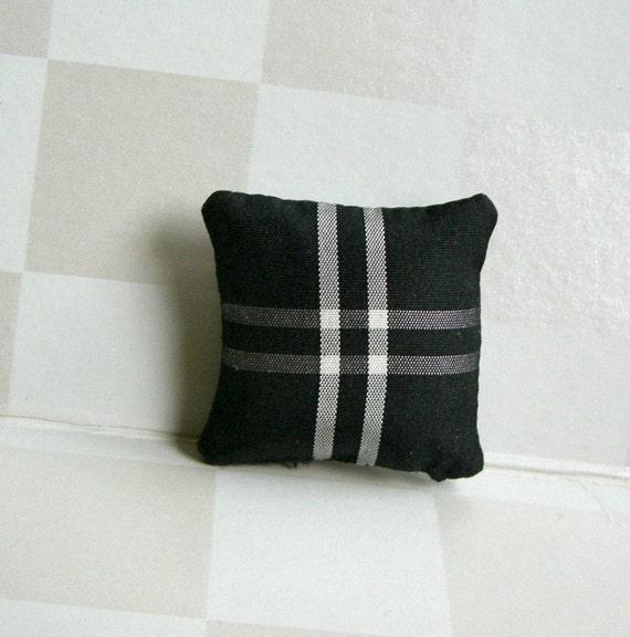 Black & White Miniature Silk Pillow