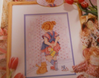 Cross Stitch Leaflett -- Girl's Time Out