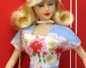 """New Hankie Couture 11 1/2"""" Plastic Doll Long Hair Blond Same Body as Barbie doll"""