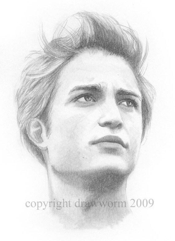 Edward Cullen Original Drawing By Drawworm On Etsy