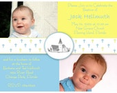 Scattered Crosses Baptism Invitation or Announcement