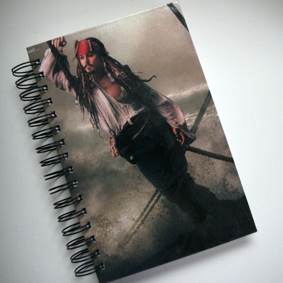 Johnny Depp Jack Sparrow Blank Journal