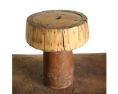 SALE Vintage Industrial Wood Foundry Mold Hat Display, Worthington Advertising