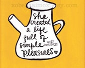 8x10 Original Painting- Simple Pleasures Teapot
