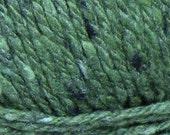 Bulky Yarn: merino wool silk cashmere SOFT green 142 yds Kathmandu chunky tweed knitting, Queensland Collection Christmas St. Patrick's Day