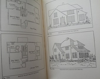 Art book, Progressive Problems in Mechanical Drawing, Harry E. Wood, antique vintage rare artist architecture antiquarian gift 1927