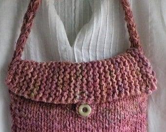 Shoulder bag large handbag, LINED Bohemian Bag, big summer spring tote purse, pink lavender peach purple blue green wool cotton 11 x 11 i705