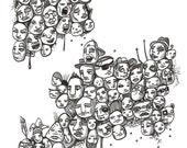 My Peeps 5 Odd Man Out - Original Illustration