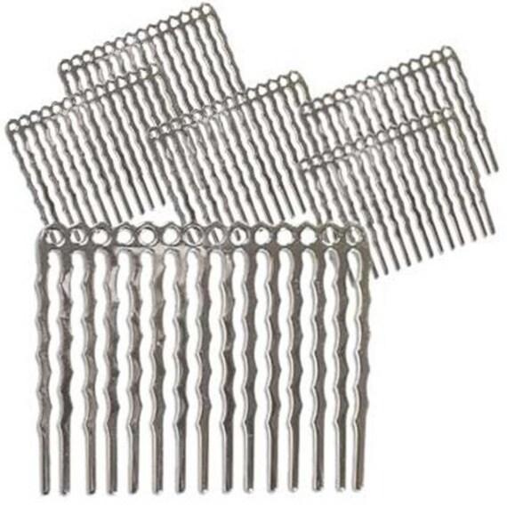 Silver plated metal hair combs fun craft beading project 1 for Metal hair combs for crafts
