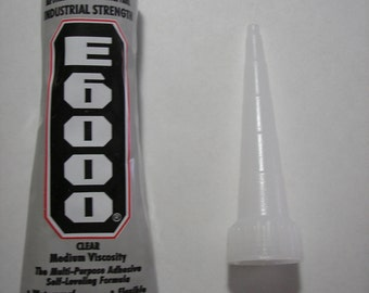 E6000 - Glue - Adhesive - Industrial Strength - Craft Glue - Jewelry Glue - 1 oz and Nozzle - Shipping included