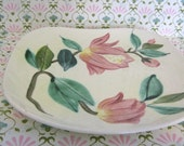 Red Wing Stoneware Plates - Blossom Time Pattern - Vintage - 2 plates