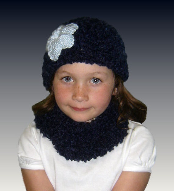 Knitting Pattern For Dolls Beanie : Knitting pattern. Matching Girl and Doll Beanie and Neck Warmer. 18 inch doll...