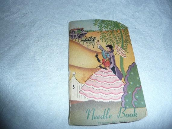 Vintage Book of Needles,Needle Threader Aug Thomas