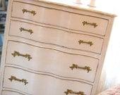 French Provincial Antique Highboy Dresser Custom Paint Girls Bedroom Furniture