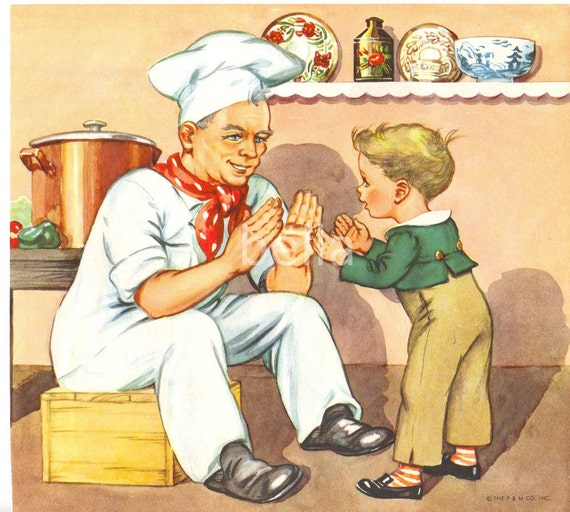 Pat A Cake Pat A Cake Mother Goose Nursery Rhymes Illustration