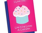 Cupcake Valentine's Day Cards (set of 24)