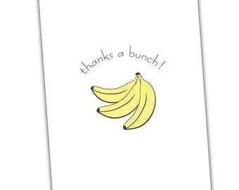 Thanks A Bunch Banana Card