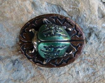 Fungus Beetle Bronze Belt Buckle