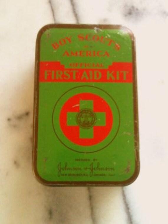 Vintage Boy Scout First Aid Kit Tin
