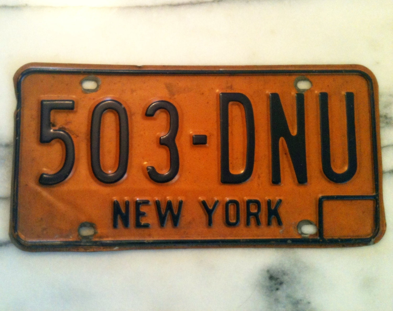 Vintage New York License Plates 37
