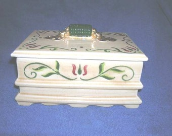 Metlox Poppytrail Homestead Provincial Dower Chest with Lid