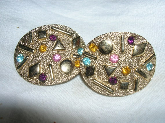 Reserved for rjcrazyone: Vintage 70s Sarah Coventry Clip-On Gold-Tone Earrings