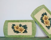 sale Vintage 1950s Magnolia Cottage Paper Trays