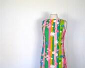 1960s Shift Dress / 60s Dress /  Mid Century Pop Fizz / S