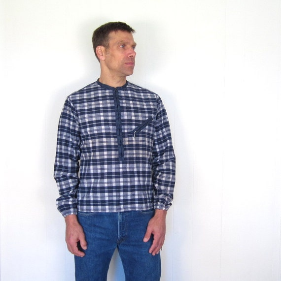Mens Plaid Jacket / 1960s Pullover / McGregor / S