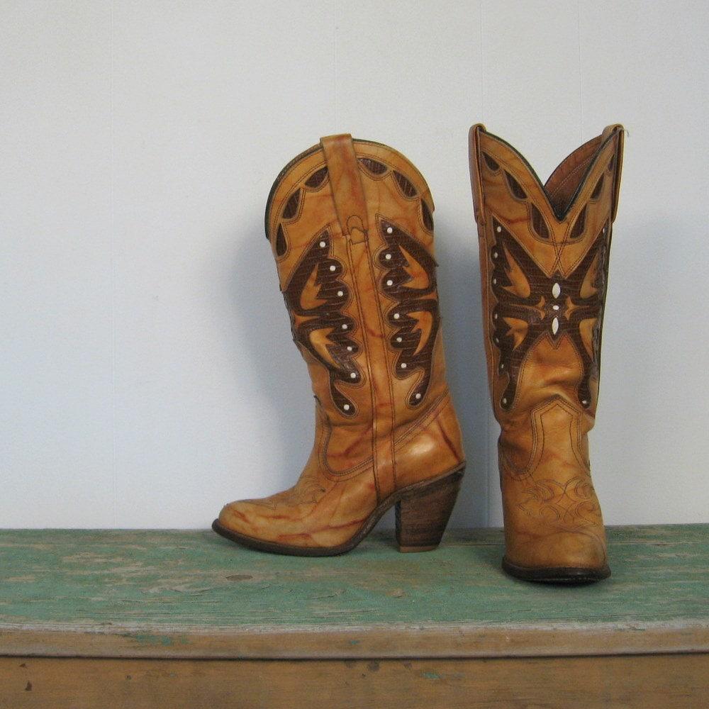 Vintage Cowboy Boots 80s Miss Capezio Cowgirl Boots 5 5