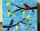 Spring time birds mosaic