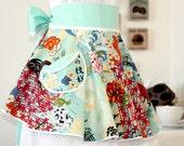 PERFECT CIRCLE Hostess Apron in Beautiful Asian Koto Print