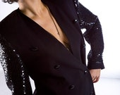 Sequin-Sleeve Tux Jacket ---DEEPLY DISCOUNTED---