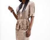 Not-So-Neutral Peplum Dress