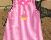 Spring Cleaning Sale Happy Birthday Reversible Stripes and Polka Dots Dress Size 3