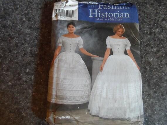 "Missses"" Crinoline Petticat and Hoop Skirt Costumet pattern by Simplicity 9764 Size Small 8-12"