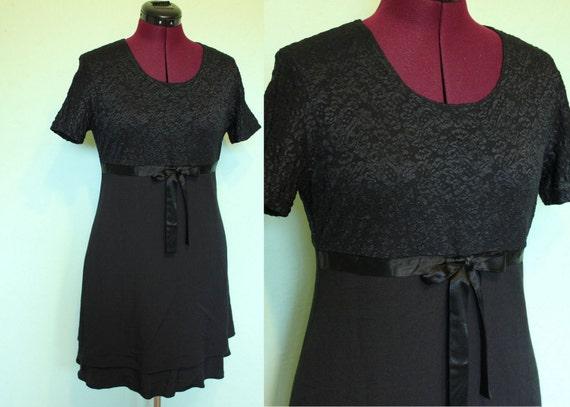 90s Clueless little black babydoll dress