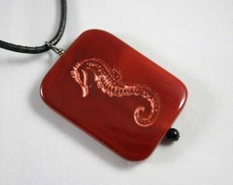 SeaHorse Engraved Carnelian Gemstone