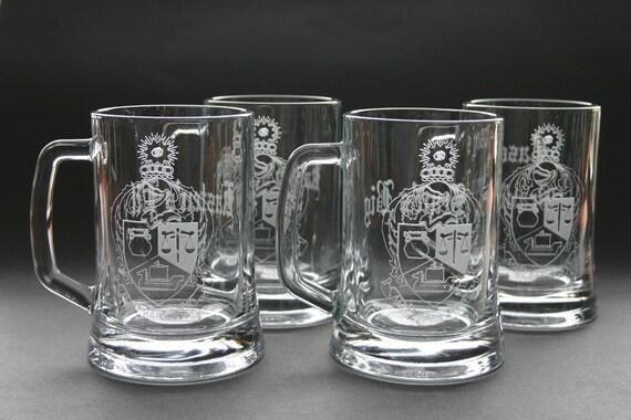Custom Etched Beer Mug Set of 8 Wedding Bestman Groomsmen