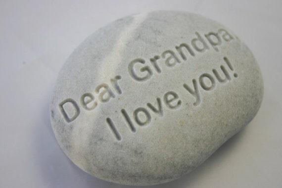 Grandpa I Love You Engraved Stone