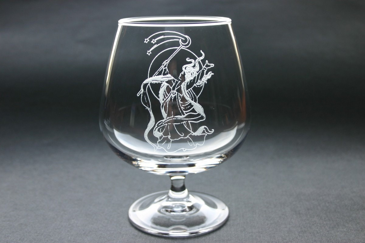 personalized brandy glass custom etched cognac snifter