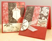 Red and Black Note Card Set