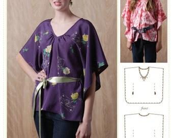 Kids blouse sewing pattern, Tween Sewing pattern, Tween Blouse pattern, women's blouse patern,Butterfly Top mulit-sized Sewing Pattern