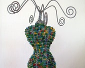 MANNEQUIN JEWELRY STAND FROM RECYCLED WIRE AND BEADS, URBAN DESIGN