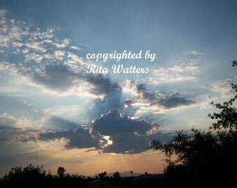 A Brilliant Arizona Sky...8 x10 Color Photo Print