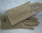 Metallic Gold Thread Gloves