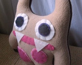 Smonster, Two-Prong (Fawn/Chocolate Brown with Fuchsia and Petal Pink Spots)