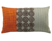 Orange Alchemy's Panes Decorative Pillow 12 x 20 inches