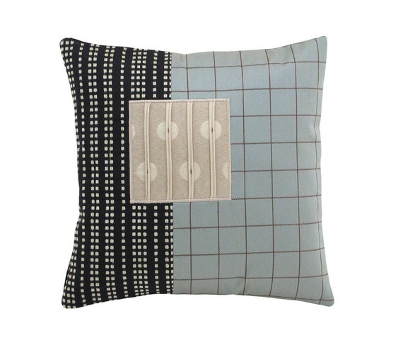 Aqua Alchemy Modern Decorative Pillow 12 x 12 inches