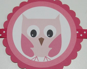 SALE/CLEARANCE - -Cutie PaHOOTie Birthday banner (pink)